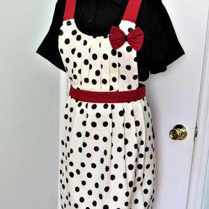ANTHROPOLOGIE Polka Dot Kitchen Apron 100% Cotton